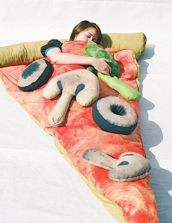 sleeping bag pizza